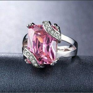 🎀Stunning 925 Pink Sapphire Ring